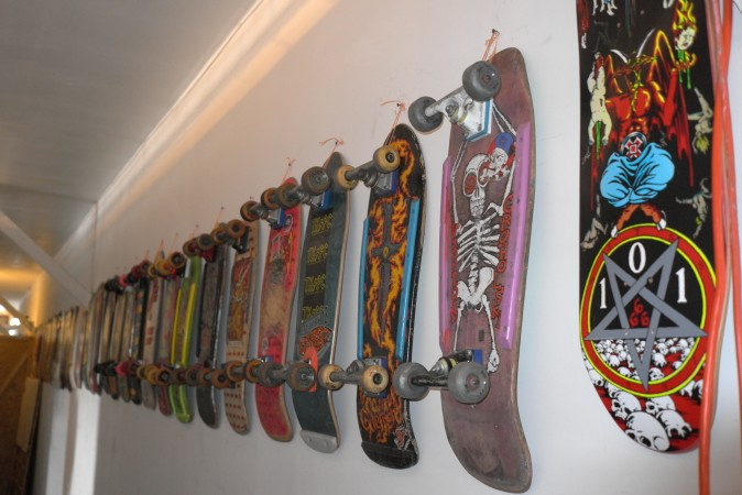 He collects skateboards