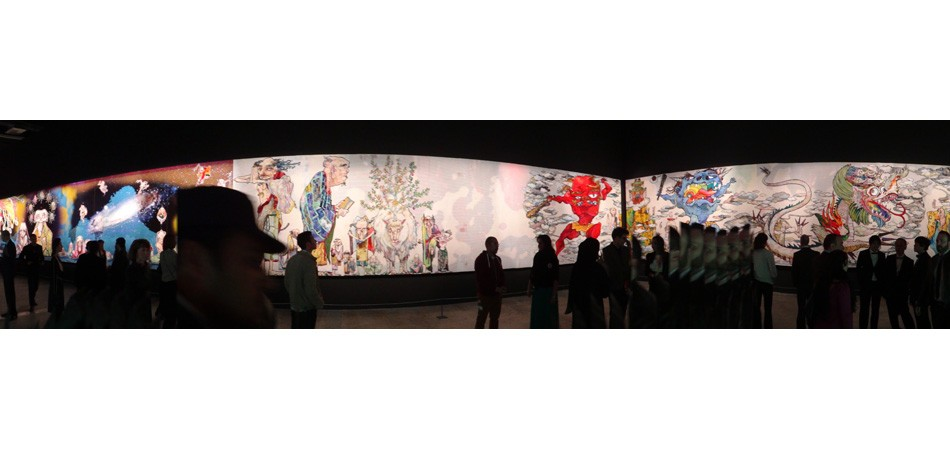 Here's the new 100-meter painting called <em>The 500 Arhats</em>, most people really were impressed. If you know me by now, I'm not most people.