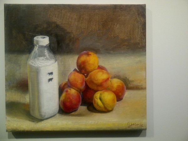 A pretty Cezanne with milk - great show David Rimanelli and Vito-the happening of the week