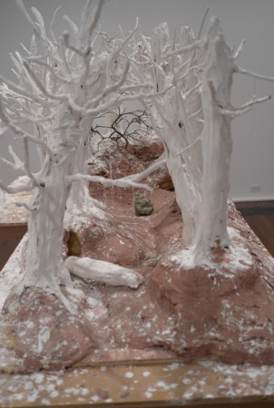 Diorama for an upcoming Snow White movie. Not my cup of snow.