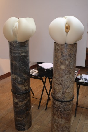 """I checked out """"Bushwick Basel"""" inside Jules de Balincourt's studio, these sculptures by Adam Parker Smith look familiar."""
