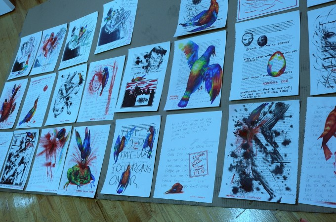 Collaboration works on paper, really beautiful ones.