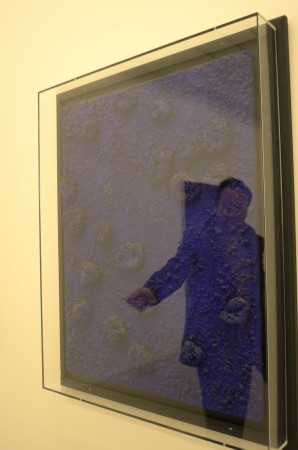 Now the main event… Emmanuel is also showing an important new series by Takashi Murakami, a series of paintings inspired by Yves Klein, see the blue sponges, that's a real Klein worth $15M!!