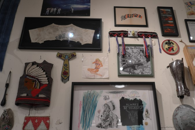 Bob Melet does great installations, the guest artist is his favorite, cool biker dude Wes Lang