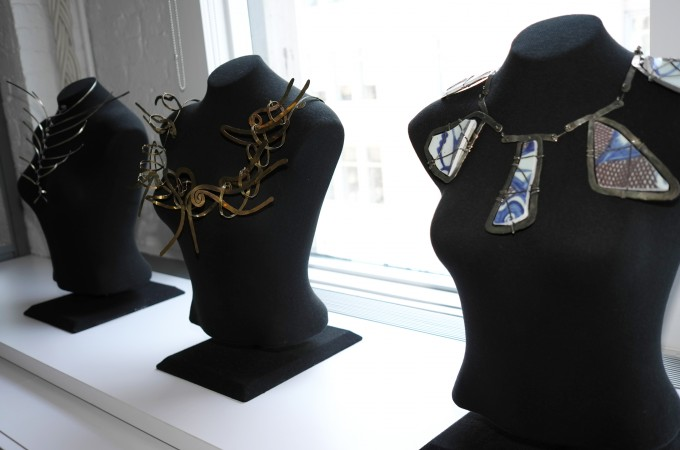 See these beautiful Calder necklaces, I think they are sculptures in every way.
