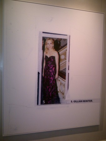 A painting of the lovely NY socialite Gillian Miniter - great visit - thanks Fabiola!