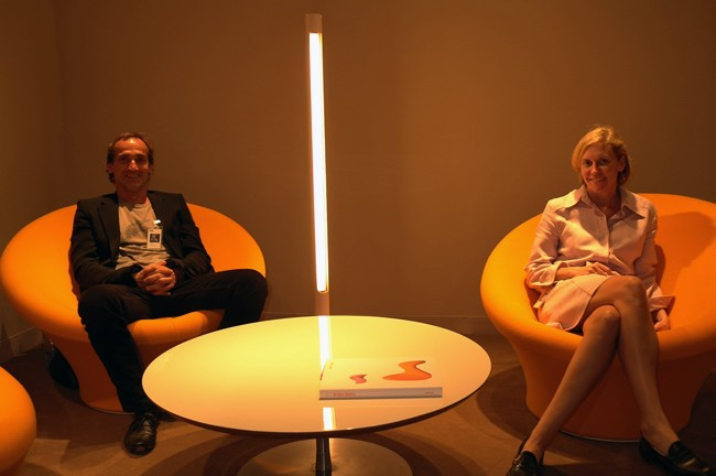 Suzanne Demisch and Stephane Danant did an all Pierre Paulin booth, it was the best in fair.