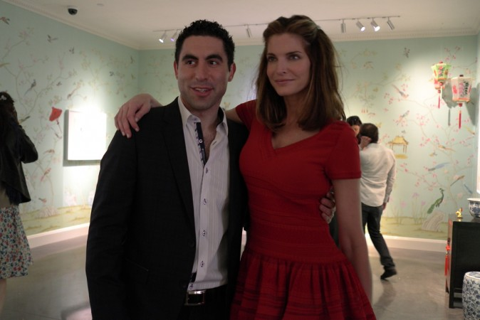 This guy tried to put the squeeze on our hostess Stephanie Seymour, shame on you