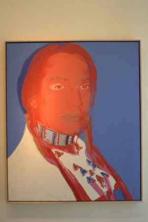 Per Skarstedt had a show of Warhol indians, specifically the 1976 portraits of Russell Means