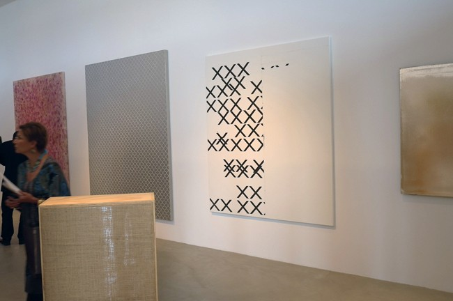 Colen, Stingel, Guyton and Kassay, a neo op-art dream line-up.