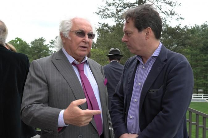 Tony Shafrazi and curator Lionel Pissaro