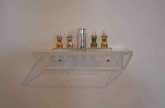 Cool mini-shelf of mini-perfumes