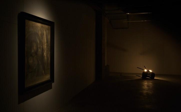 Odilon Redon <em>Le Chevalier Mystique</em>, Banks Violette <em>Bergen Chair</em>