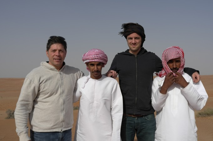 We hooked up with these two Bedouins, there's no way we could have crossed the desert without them.