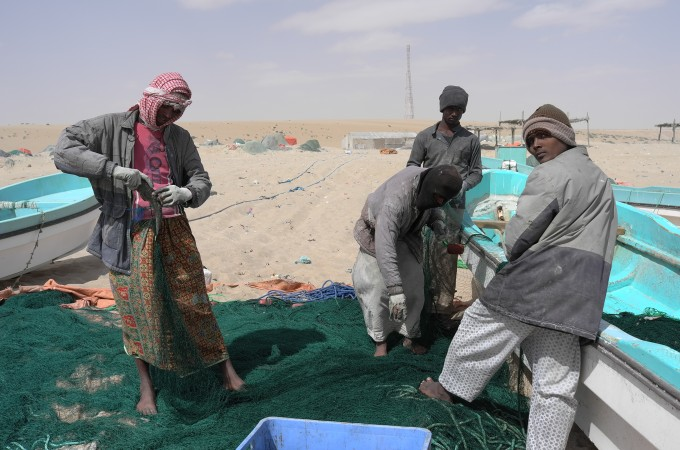 As we emerged from the desert we hit the Arabian Sea. These fishermen are pretty amazing.