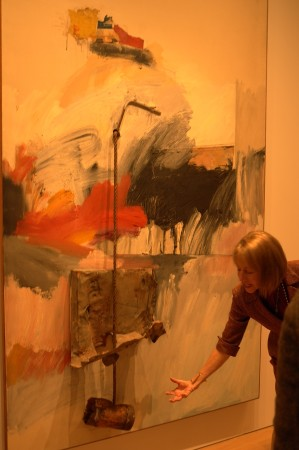 Lisa adds emphasis to a Rauschenberg masterpiece