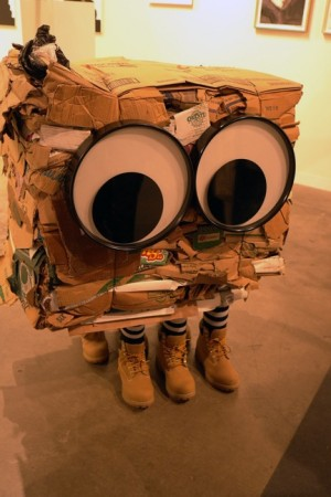 Rob Pruitt at Gavin Brown's gallery can get ugly, and there's a real person inside!! He is a contender….