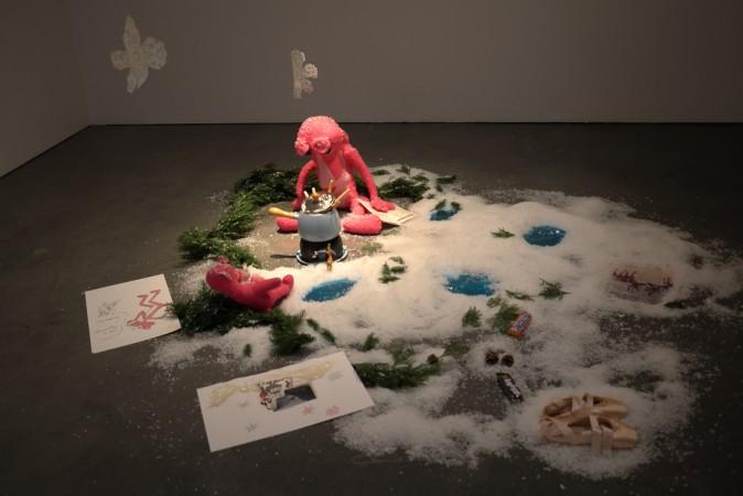 cool Pink Panther installation