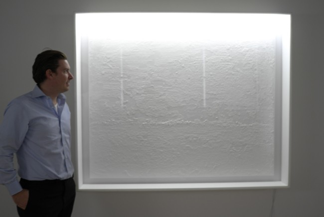Sotheby's honcho Alex Rotter looks into Terence Koh's field of snow