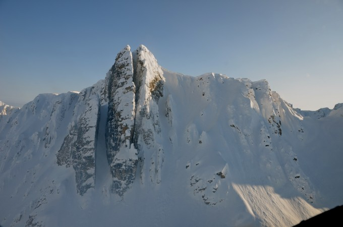 """This thing is amazing. They call it """"NYC"""" or alternatively the """"Vagina"""", which I prefer. We skied the chute on the left. Believe me, you felt like this was the greatest work of art on the planet, it was breathtakingly beautiful."""