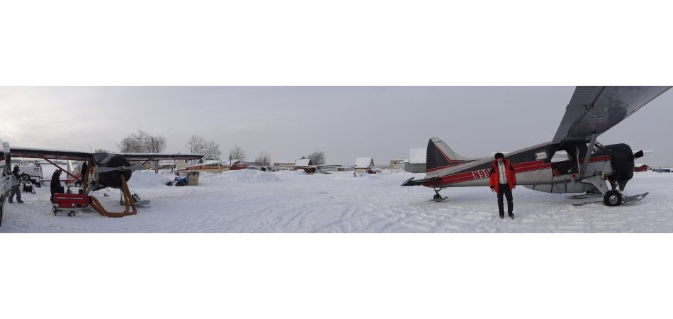 I'm about to fly out of Anchorage to the Tordrillo Mountain lodge. These old planes have no heating, my feet always get really cold!!