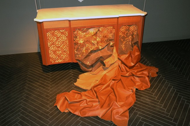Silly Fendi leather furniture