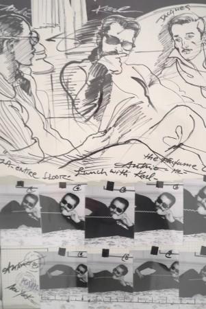 Warholian photo drawing combo