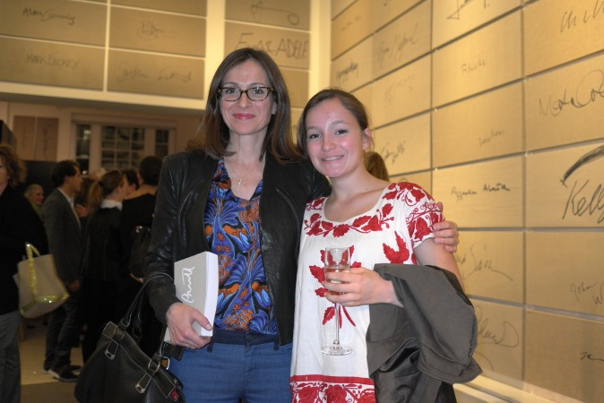 Sarah Thornton of The Economist with her daughter