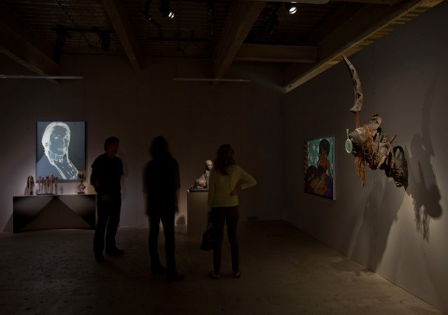 Andy Warhol <em>An American Indian (Russell Means)</em>, Hope Atherton <em>Untitled (Sphinx)</em>, <br/>Big Fat Black Cock, Inc. <em>Untitled</em>, David Hammons <em>Untitled</em>