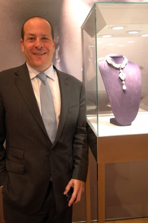 Here's Marc Porter, he's the President of Christie's, he's very proud of this amazing Liz Taylor show, with $20++ million of jewels and $4M of dresses to sell you'd be happy too. We went to Yale Law together, so he knows I'm not a deadbeat, even if I'm a slow payer.
