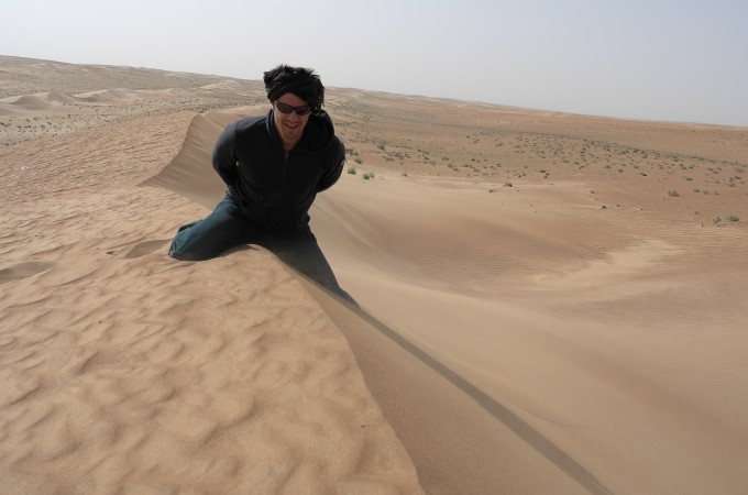 Loic's very popular with the girls... the way he straddles this dune shows you why!
