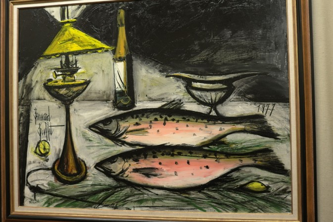 beautiful salmon still life